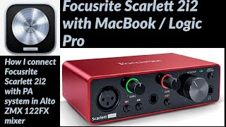 focusrite scarlett 2i2 with macbook logic pro