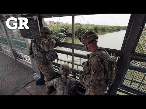 Cerca EU frontera con militares y púas