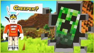 Creeper aww man In A Roblox Game