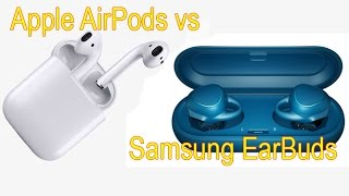 Apple Wireless AirPods vs Samsung Gear Icon X wireless EarBuds