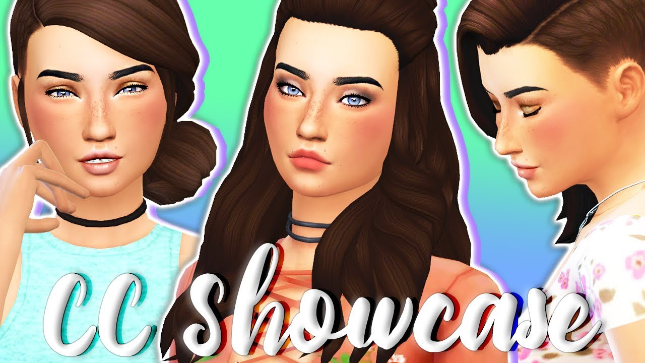 MAXIS MATCH CC FINDS💙 // THE SIMS 4   HAIR, MAKEUP ...