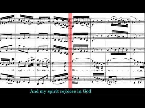 BWV 243 - Magnificat (Scrolling Score)