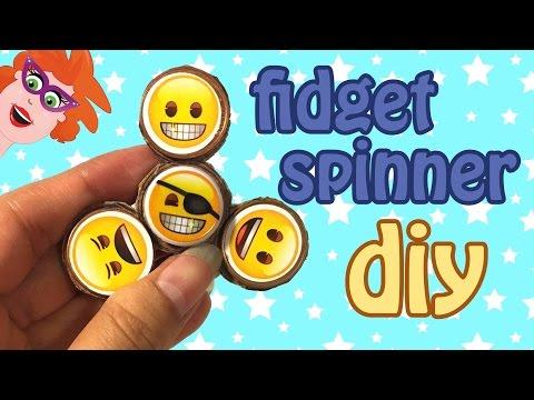 DIY fidget spinner - Emoji stickers