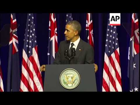 More of US President's address to students at University of Queensland ahead of G20 summit