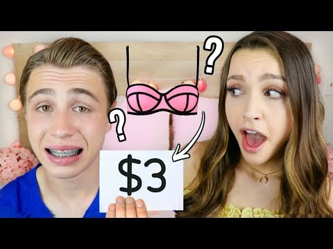 Brother Guesses Prices of Girly Items!!