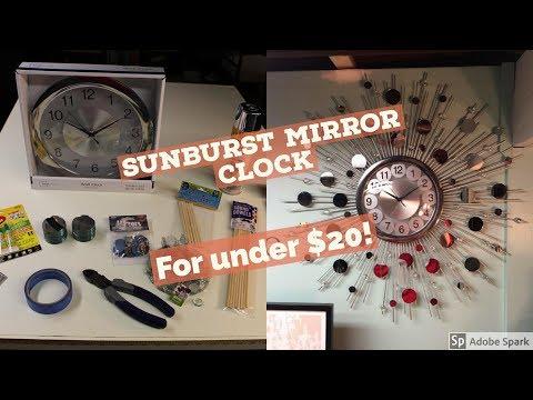 Sunburst Mirror Clock DIY for under $20!!!! - Copy Hack Labs