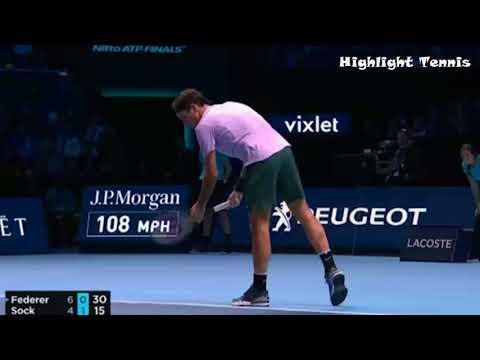 Roger Federer vs Jack Sock Nitto ATP FINALS 2017 Highlights NEW