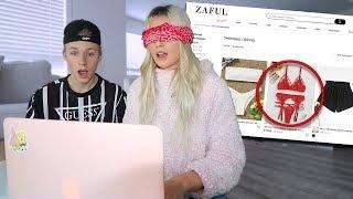 I went online shopping blindfolded..