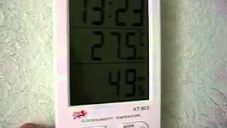 4,3 Цифровой ЖК Влажность / гигрометр и термометр