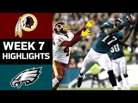 Redskins vs. Eagles | NFL Week 7 Game Highlights