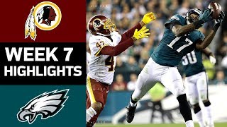 Redskins vs. Eagles | NFL Week 7 Game Highlights