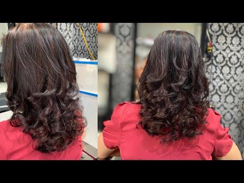 Hướng dẫn uốn xoăn cho người trung tuổi , nền tóc bạc 100%   Quang Saker