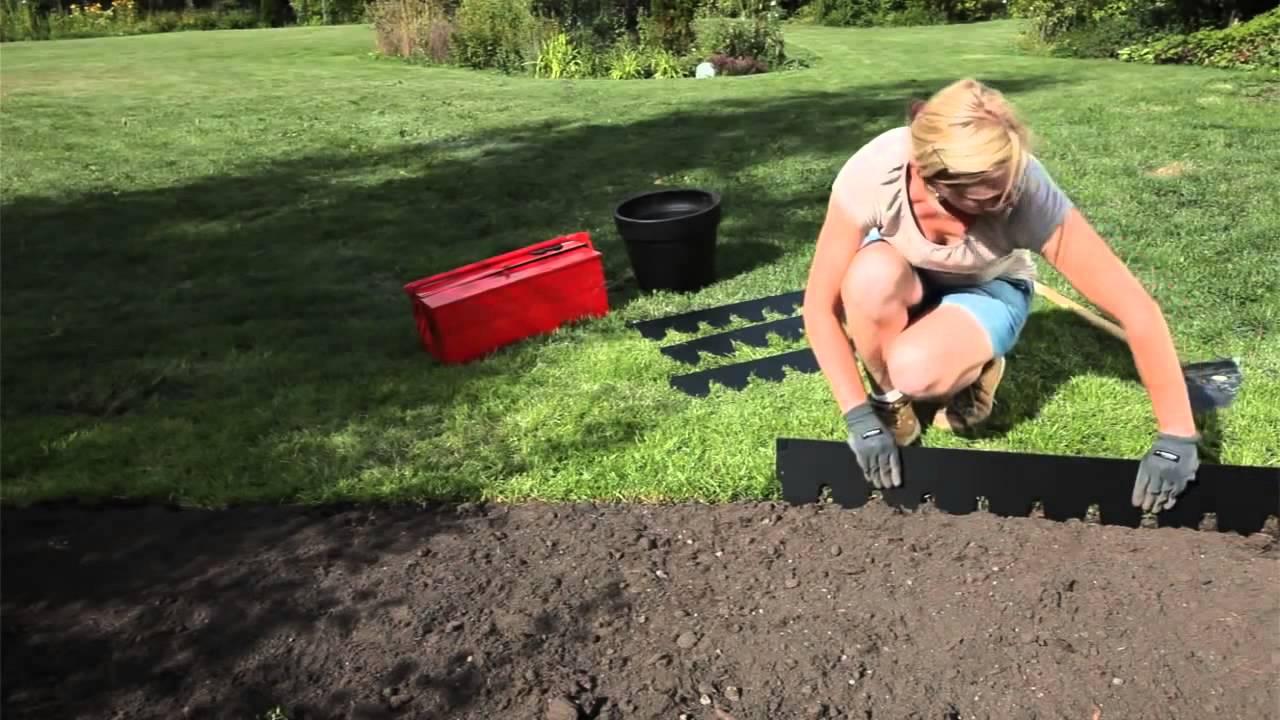 Садовые ограждения для клумб - YouTube