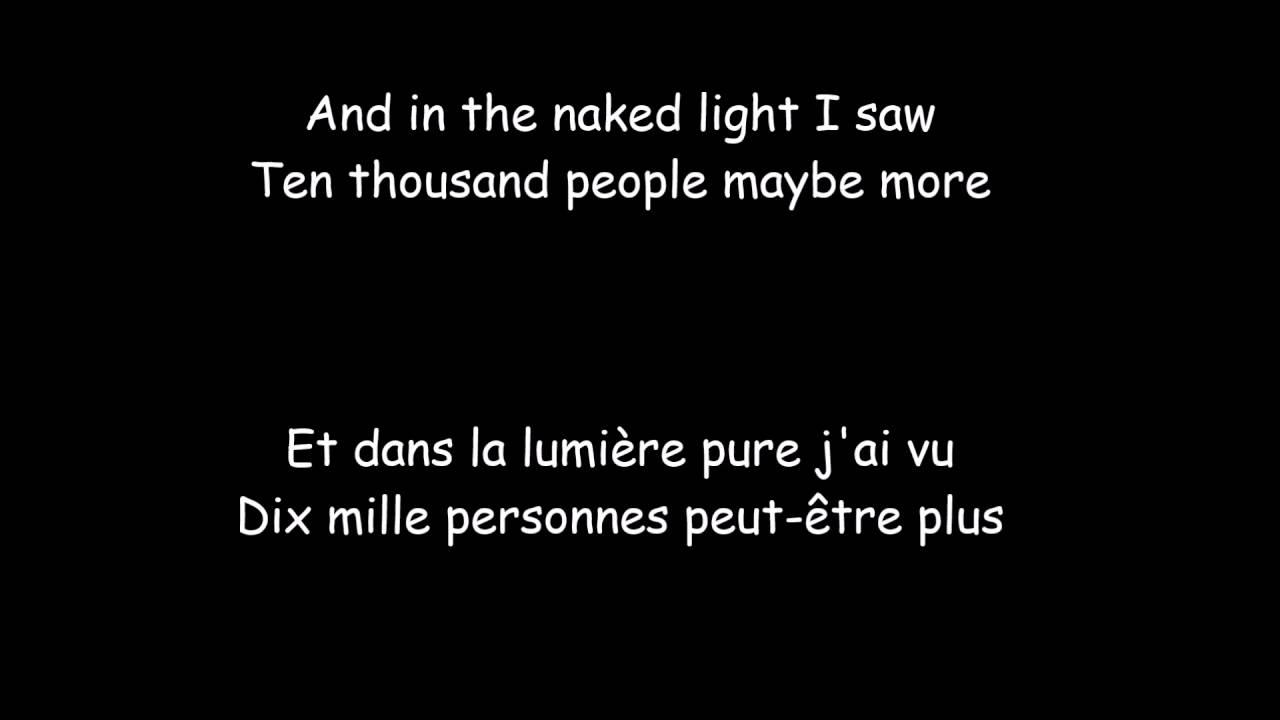 Sound of Silence - French Lyrics - YouTube