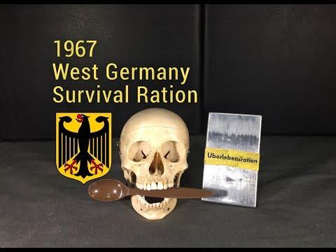 RARE 1967 West German Survival Ration Taste Test -- Sent By Steve1989 MREinfo