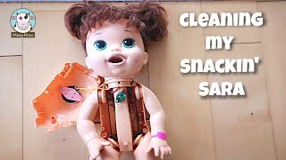 Baby Alive Cleaning What's inside a Baby Alive Snackin' Sara doll