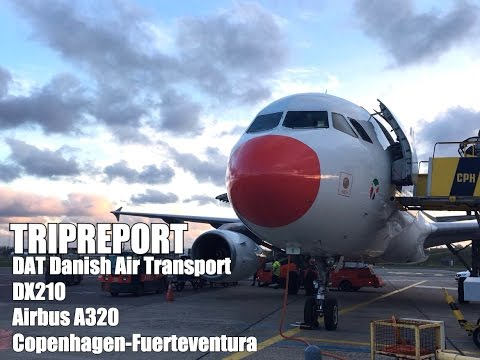 TRIPREPORT / DAT Danish air transport ECONOMY Airbus A320 Copenhagen to Fuerteventura