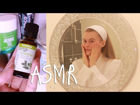 ASMR Natural skincare routine W/ Carbon coco teeth whitening