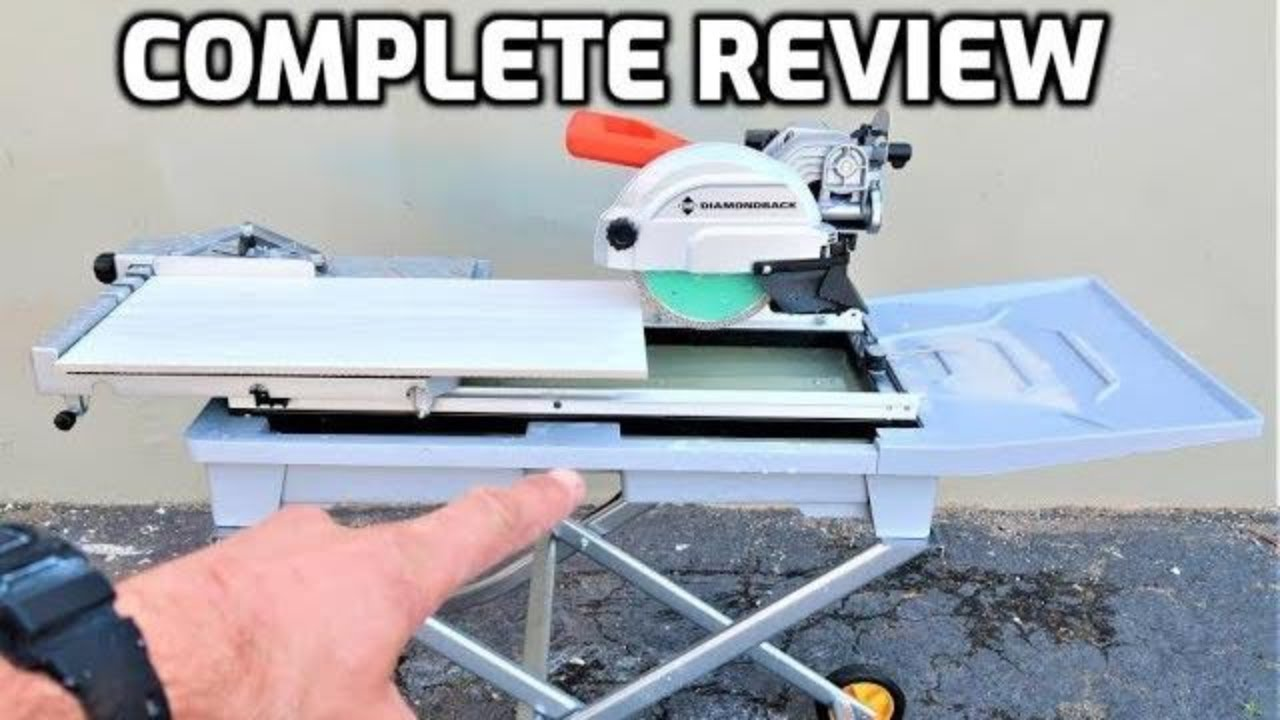 diamondback 7 tile saw by harbor freight full review