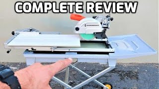 7 in wet tile saw with sliding table