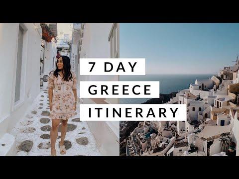 GREECE TRAVEL VLOG I WHAT TO DO IN ATHENS, MYKONOS, SANTORINI