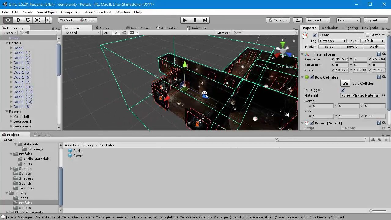 Unity 3D: Portal Occlusion Library - How To