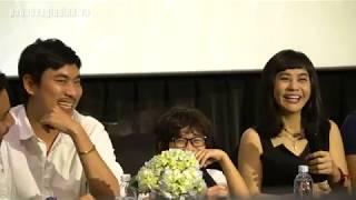 Cát Phượng khóc trong họp báo phim mới với Kiều Minh Tuấn