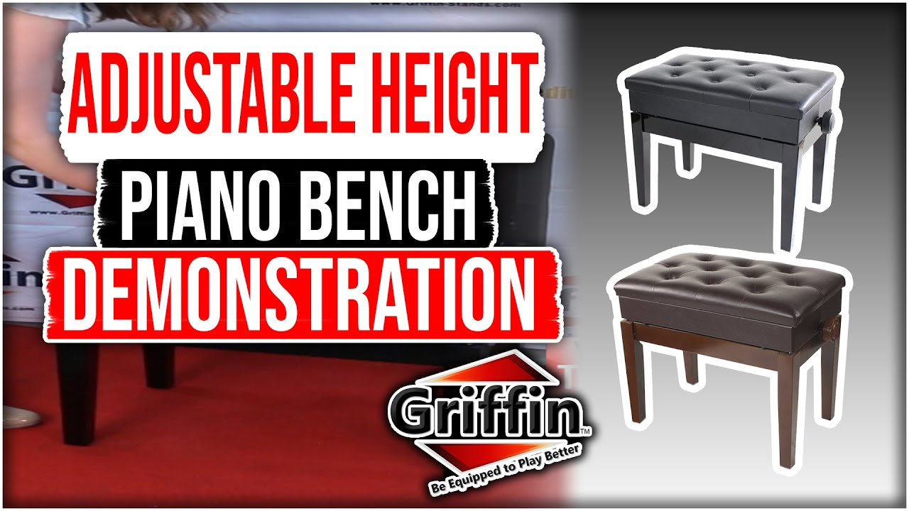 Griffin Adjustable Height Piano Bench with Storage Product Review and Demonstration Model AP5103 & Griffin Adjustable Height Piano Bench with Storage Product Review ... islam-shia.org
