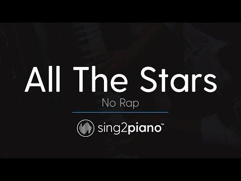 All The Stars (No Rap, Piano Karaoke Instrumental) Kendrick Lamar, SZA