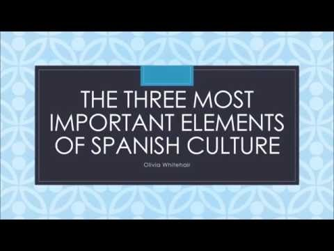 Presentation Important Cultural Elements Spanish