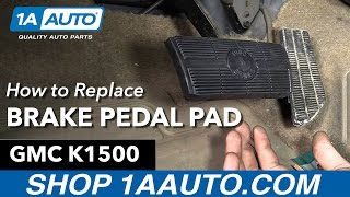 How to Replace Install Brake Pedal Pad 1996 GMC Sierra K1500 Buy Quality Auto Parts at 1AAuto.com
