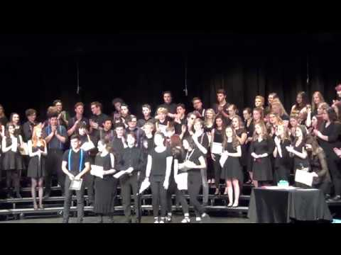 SHS Choir Awards,  Senior Song -  On My Way, by Phil Collins 6 2017