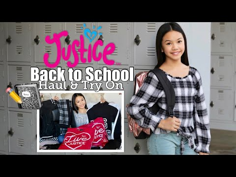 JUSTICE BACK TO SCHOOL HAUL   TRY ON