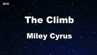 Karaoke♬ The Climb - Miley Cyrus 【No Guide Melody】 Instrumental