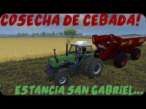 Farming Simulator 2013 Argentino -(Cargando Bitrem Vulcano) Cosecha De Cebada