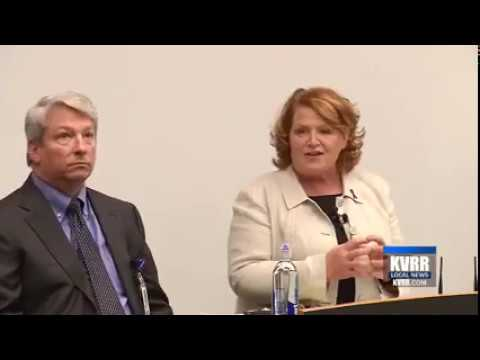 KVRR: Sen. Heitkamp Talks Health Care During Tame Town Hall Meeting