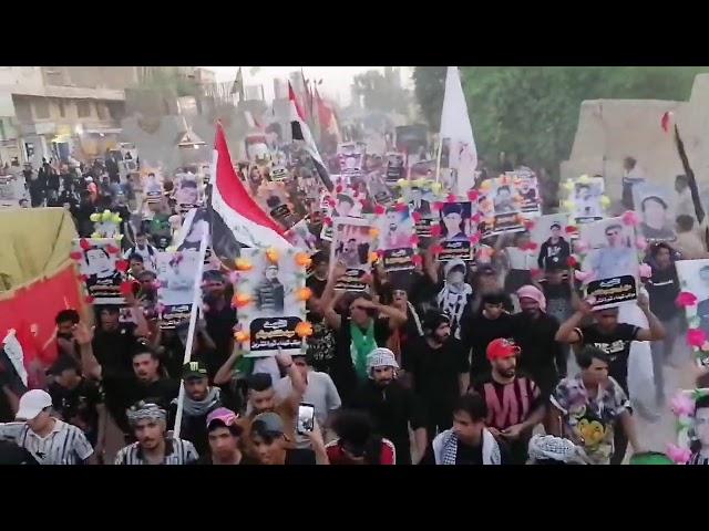 صدامات بين متظاهرين وقوات العتبه في كربلاء ودخول مهيب للثوار