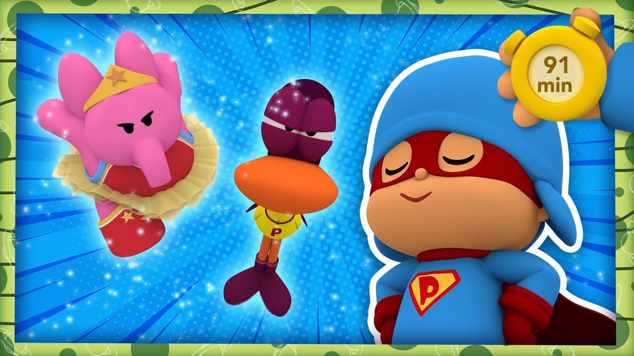 💪 POCOYO AND NINA - Super Hero Adventures [91 min] | ANIMATED CARTOON for Children | FULL episodes