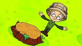 Профессор Почемушкин - Развивающий мультфильм для детей –Зачем деревьям кольца?