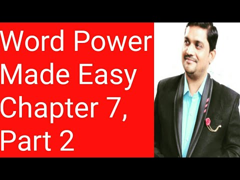 Word Power Made Easy Chapter Seven - Part Two