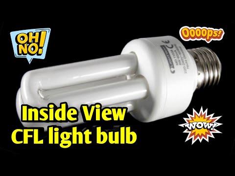 What's Inside a CFL light bulb || Inside view CFL light bulb - Live. Indian