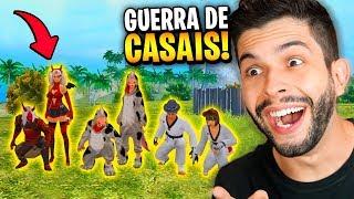 QUAL O MELHOR CASAL?!? DESAFIO NA SALA PERSONALIZADA DO FREE FIRE!!!
