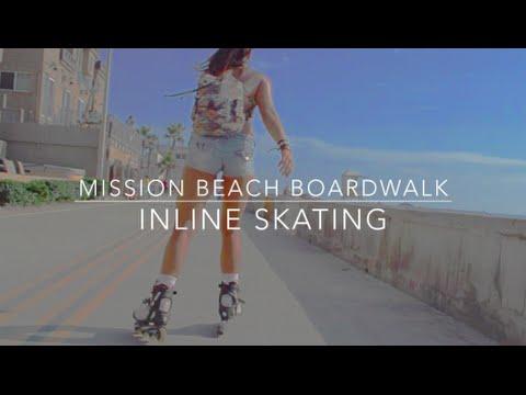 Mission Beach Boardwalk - Inline Skating