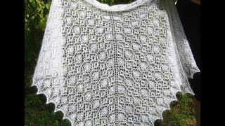 Prairie Rose Lace Shawl. Мастер-класс начала шали.