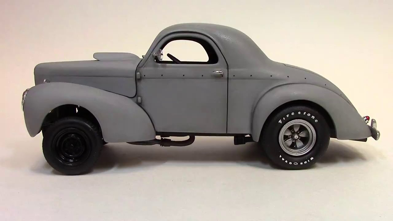 Willys Hot Rod >> Billy Vega's Scale Model Garage : Rebel Of The Road Willys Movie Car - YouTube