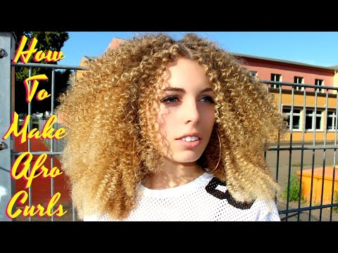 BEST Tutorial EVER !! How To Make Straight Hair Super Tight Small Spiral Afro Curly / Straw Set