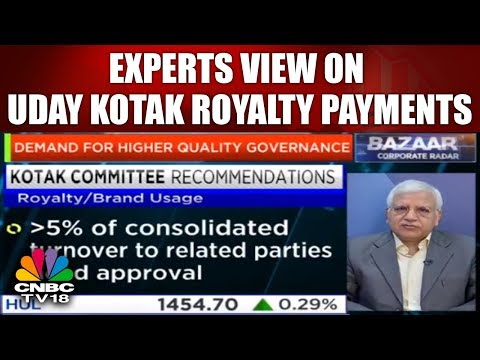 Experts View on Uday Kotak Royalty Payments | Corporate Radar | CNBC TV18