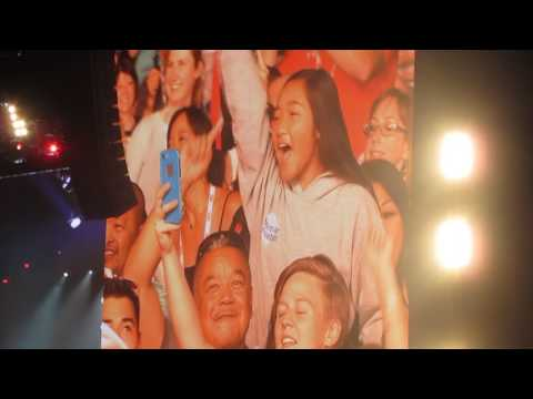 """Kelly Clarkson -""""SINCE U BEEN GONE"""" AND FUNNY INTRO - WARRIOR GAMES JULY 1 2017"""
