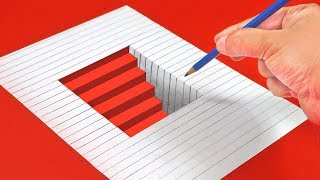 10 AMAZING ILLUSION DRAWINGS FOR KIDS | Draw Illusions in Simple Way