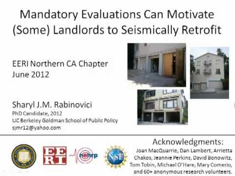 Mandatory Evaluations Can Motivate Seismic Retrofit (Pres)